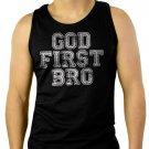 God First Bro Men Black Tank Top Sleeveless