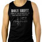 Holy Shift Asymptote Calculus Math Geek Men Black Tank Top Sleeveless