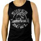 Jurassic World Superbowl Men Black Tank Top Sleeveless
