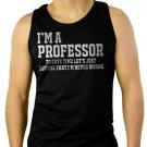 Professor University Funny Gift Men Black Tank Top Sleeveless