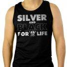 Silver and Black Forever Oakland Raiders Men Black Tank Top Sleeveless