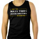 Star Wars May the Force Be With You Mass Times Acceleration Men Black Tank Top Sleeveless