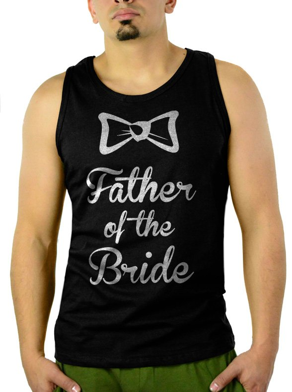 The father of the Bride Men Black Tank Top Sleeveless
