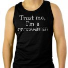 Trust Me I'm A Programmer Job Occupation Men Black Tank Top Sleeveless
