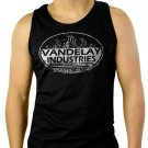 Vandelay Industries Funny Retro Pop Culture Men Black Tank Top Sleeveless