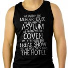 We Lived In The Murder House We escaped the Asylum Men Black Tank Top Sleeveless
