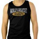 World's Greatest Grandpa Men Black Tank Top Sleeveless