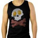 Bacon & Eggs Skull & Crossbones funny- Bacon Strips Men Black Tank Top Sleeveless
