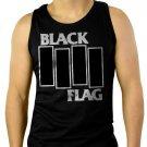 Black Flag Men Black Tank Top Sleeveless
