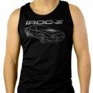 Chevy Camaro Custom Illustration IROC Men Black Tank Top Sleeveless