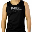 DADD Dads against Daughters Dating Funny- Fathers Day Men Black Tank Top Sleeveless
