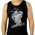 Derek Jeter New York Yankees Captain Men Black Tank Top Sleeveless