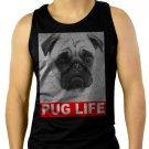 Dog Pug Life Slogan Men Black Tank Top Sleeveless