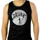 Drunk 1 ST PATRICK'S DAY beer irish PATTY'S FUNNY Men Black Tank Top Sleeveless