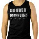 Dunder Mifflin PAPER The Office Funny SCHRUTE Men Black Tank Top Sleeveless