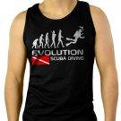 EVOLUTION OF SCUBA Diving down Flag Men Black Tank Top Sleeveless