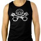 JDM RACING CAR Piston Smiley face Men Black Tank Top Sleeveless