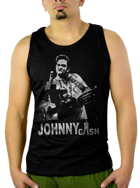 Johnny Cash Men Tank Top Black