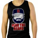 Johnny Gomes Men Tank Top Boston Red Sox FEAR THE BEARD