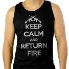 Keep Calm and Return Fire Men Tank Top Sleeveless