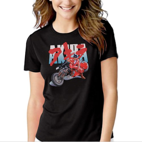 New Hot AKIRA KANEDA JAPANESE RETRO ANIME Women Adult T-Shirt