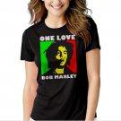New Hot Bob Marley One Love Rasta Women Adult T-Shirt