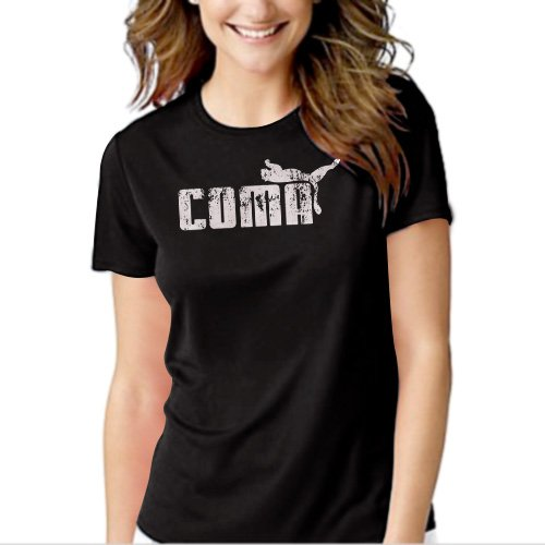 New Hot Coma in Puma Ware Funny Women Adult T-Shirt