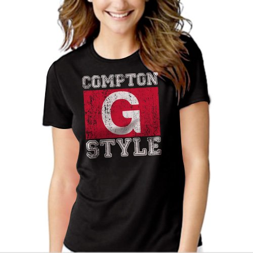 New Hot Compton G Style Gangsta Ice Cube Gangster Hip Hop Women Adult T-Shirt