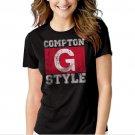 New Hot Compton G Style Gangsta Ice Cube Gangster Hip Hop Women Adult T-Shirt