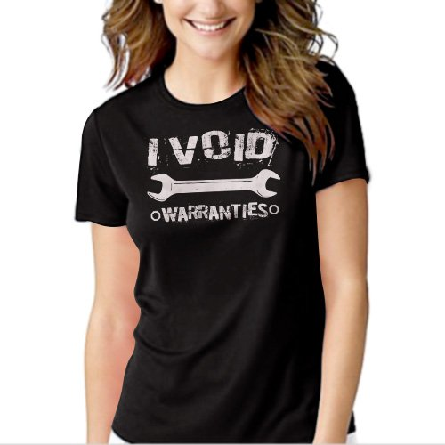 New Hot I Void Warranties Mechanic Wrench Women Adult T-Shirt