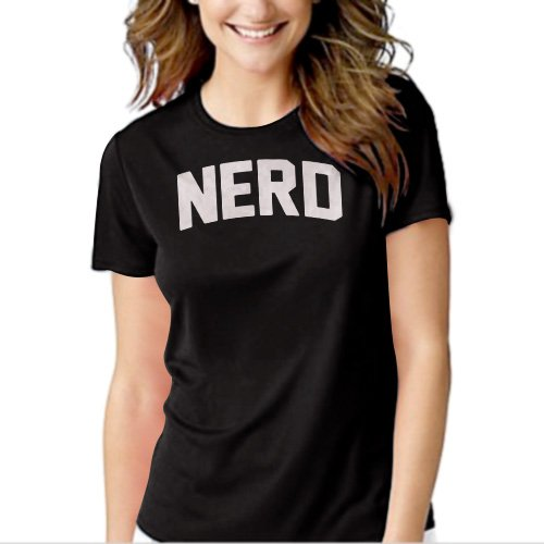 New Hot NERD Science Math Geeky Women Adult T-Shirt