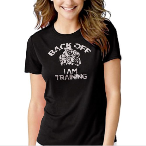 New Hot Back Off MMA Street Bodybuilding Workout T-Shirt For Women