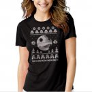 New Hot Dark Side of the Force Star Wars Ugly Sweater T-Shirt For Women