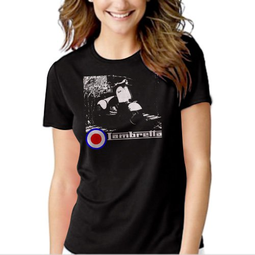New Hot VESPA LAMBRETTA ARTWORK SCOOTER SKA MOD T-Shirt For Women