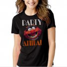 Animal Muppets Top Funny Humour Party Black T-shirt For Women