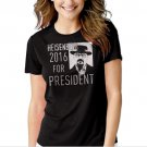 Breaking Bad Heisenberg For President 2016 Black T-shirt For Women