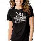 DICK'S MEAT MARKET Funny Humor Rude Not Eating Meat Black T-shirt For Women