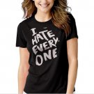 I Hate Everyone Tumbrl Hipster Geek Black T-shirt For Women