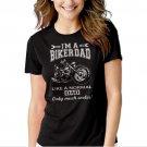I'm A Biker Dad Funny Motorbike Black T-shirt For Women