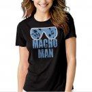 MACHO MAN SAVAGE RANDY FUNNY Black T-shirt For Women