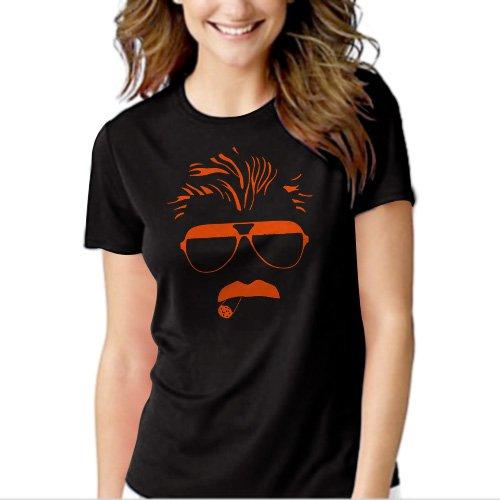 Mike Ditka Chicago 80s Bears Football Black T-shirt For Women