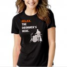 Relax The Drummer's Here Black T-shirt For Women