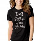 The father of the Bride Black T-shirt For Women