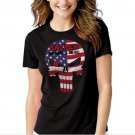 THE PUNISHER US AMERICAN SNIPER Black T-shirt For Women