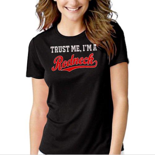 Trust Me I'm A Redneck Black T-shirt For Women