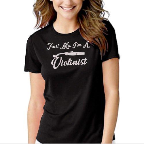 Trust Me I'm A Violinist Musician Violin Black T-shirt For Women