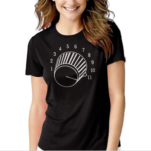Turn it Up to Eleven Spinal Tap Funny Black T-shirt For Women