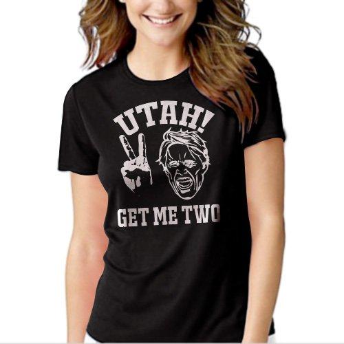 Utah Get Me Two Black T-shirt For Women