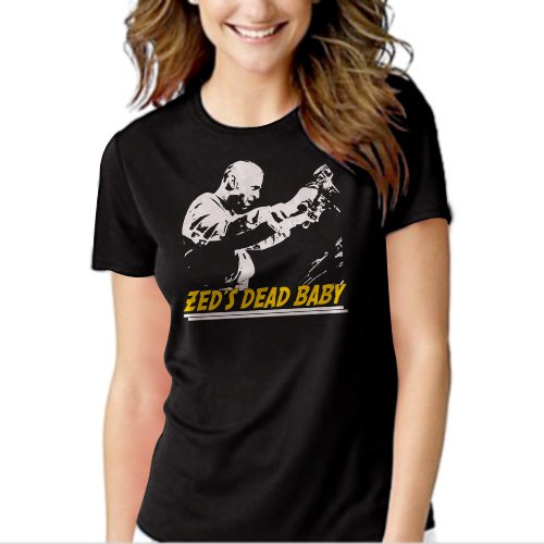 Zeds Dead Baby Pulp Fiction Quentin Tarantino Black T-shirt For Women