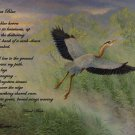 Great Blue Heron w/Poem - Item  CP126